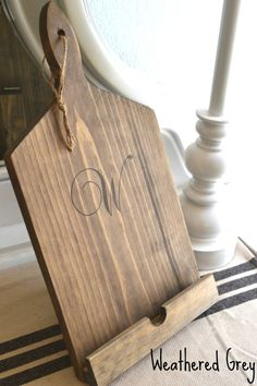 Personalized Rustic Wooden Kindle HD/ iPad Stand for Recipes!
