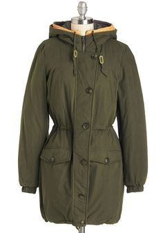 Style After Mile Coat. No matter where you trek or how long the journey takes, this olive-green coat will keep you stylishly snug the whole way! Blazers For Women, Coats For Women, Jackets For Women, Ladies Blazers, Women's Jackets, Green Coat, Green Pants, Vintage Coat, Retro Vintage