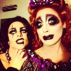 Bianca del Rio and Courtney Act backstage of Rocky Horror Show