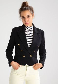 "Vero Moda. VMSELMA - Blazer - black beauty. Fit:tailored. Outer fabric material:95% polyester, 5% spandex. Our model's height:Our model is 69.5 "" tall and is wearing size 10. Pattern:plain. Care instructions:do not tumble dry,machine wash at..."