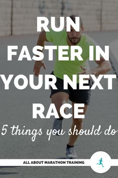 If you're serious about increasing your potential to run faster in your next marathon or half marathon here are 5 ways you can set yourself up for success. Running Routine, Interval Running, Running Plan, Running Race, Marathon Running, Running Workouts, Running Tips, Cardio, Running Training Programs