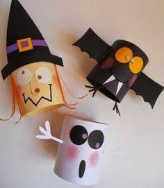 Tutorial de Artesanías: Halloween reciclado. Adornos con rollos de papel