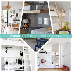 Roundup: 5 Shared Bedroom Ideas For Kids via Small Roar