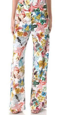 floral pant wide-leggeds