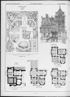 Architektur Karte und Grundriss der Villa About Carpal Tunnel Syndrome Did you know that one in ever Victorian House Plans, Vintage House Plans, Victorian Homes, Dream House Plans, House Floor Plans, Architecture Drawings, Architecture Details, Fantasy House, House Blueprints