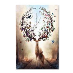 Trademark Fine Art 'Seasons' Canvas Art by JoJoesArt