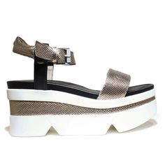 JANET SPORT 37833 SANDALO COIMBRA MAYA JANEIRO SHOES WEDGE SANDALS, HIGH HEEL, NEW COLLECTION SPRING SUMMER 2016 BLACK LEATHER BRONZE ** Click image to review more details.
