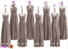 Hey, I found this really awesome Etsy listing at https://www.etsy.com/listing/190853147/gray-bridesmaid-dresses-mismatch