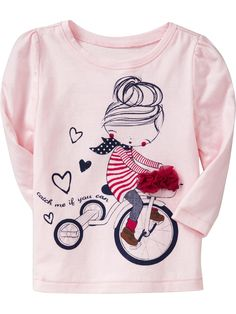 Old Navy Embellished Graphic Tees Toddler Girl Outfits, Kids Outfits, Jean Outfits, Polo Outfit, Tk Maxx, Cute Tshirts, My Baby Girl, Kind Mode, Kids Wear