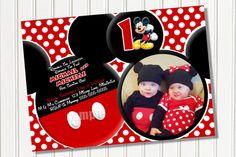 YOU CHOOSE Mickey Mouse Invitation For by MyCelebrationShoppe, $10.00