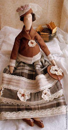 Купить Горячий шоколад - тильда, кукла Тильда, текстильная кукла, интерьерная кукла, коллекционная кукла