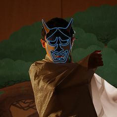 Etsy の Luminary Mask Hannya by Makebright Mask Design, Light In The Dark, Ninja, Urban, Actors, Etsy, Ninjas, Actor