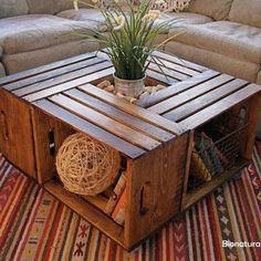 Mesa con cajas