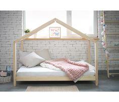Scandi Chunky Frame Bed Bed Frames Uk, House Frame Bed, Wooden Bed Frames, House Beds, Beds Uk, New Beds, Furniture Market, Home Furniture, Kids Toddler Bed