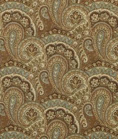 upholstery fabric dining room (Swavelle / Mill Creek Pissarro Chocolate)