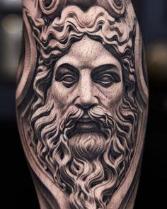 Medusa Tattoo Design, Tattoo Designs, Tattoo Ideas, Tattoo Studio, Back Tats, Statue Tattoo, Time Tattoos, Realism Tattoo, Angel Art
