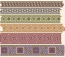 antique decorative pattern border vector