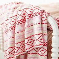 The Land of Nod | Cross Your Heart Throw Blanket