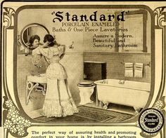 An advertisement for Standard Bathroom Fixtures from the 1905 issue of American Homes and Gardens.