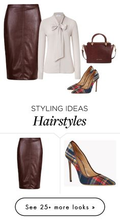 """Leathered!"" by lollahs on Polyvore featuring Pussycat and Ted Baker"