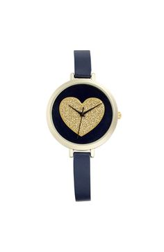glitter heart double wrap watch - $20 - perfect for Valentine's Day
