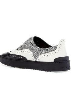 Rag & boneMeli paneled glossed-leather sneakers. Leather SneakersBoots