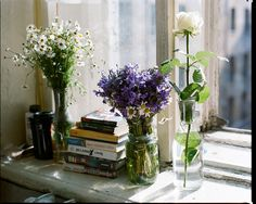Flowers always brighten a windowsill