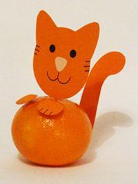 mandarijn poes traktatie