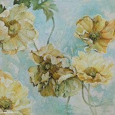 Linda Thompson, 'Mix et Flow', 20'' x 20'' | Galerie d'art - Au P'tit Bonheur - Art Gallery