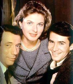 "Yves Montand, Ingrid Bergman and Anthony Perkins, from the 1960 film ""Goodbye  Again."""