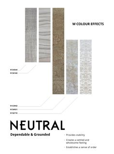 WSTUDIO Colour Effects: Neutral    What is your favourite neutral in your space?    http://www.wstudio.ca/catalogue.php
