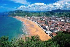 Zarautz, Basque country, Spain. Great place, nice people, outstanding food (txuleta!!!!), beautiful scenery, terrific surf...