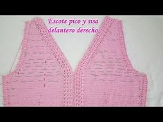 Crochet Designs, Crochet Top, Knitting Patterns, Diy And Crafts, Youtube, Pullover, Women, Fashion, Knit Vest
