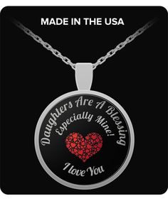 iGifts Momma Loves You Heart Pendant to My Daughter Necklace Jewelry from Mom Mother and Child Silver//18k Gold Plated