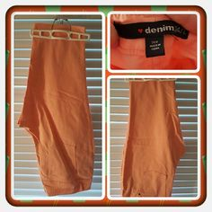 NWOT Woman's Capri's Size 24W  Brand New Never Worn Capri's From Woman Within Brand Is Denim 24/7 Size Is 24W. These Are A Pretty Peach Color Great For Spring & Summer. Excellent Condition  PAYPAL  TRADES  OFFERS AT THIS TIME PRICE IS FIRM  Woman Within Pants Capris