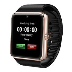 SEPVER Smart Watch GT08 Bluetooth with TF Memory Card and SIM Card Slot for Android Samsung S5 S6 Note 4 5 HTC Sony LG Xiaomi Huawei and iPhone Smartphones Gold ** Be sure to check out this awesome product.