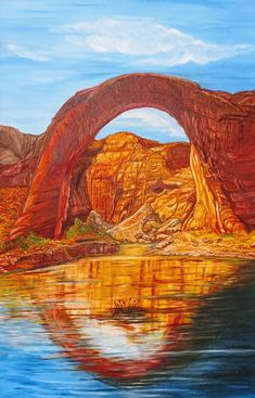 Inspired By Arches National Park - Oil Painting Mountain Art, Nature Animals, Oceans, Arches, Rivers, Acrylics, Monument Valley, National Parks, Sunshine
