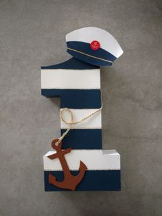 Sailor Birthday, Sailor Party, Happy Birthday Tag, Sailor Theme, 2nd Birthday Party Themes, Baby Boy 1st Birthday, 1st Boy Birthday, Birthday Photos, First Birthday Parties
