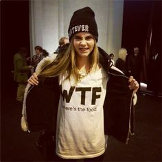 """Cara Delevingne: """"Where's the food?"""""""