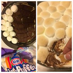 Homemade easy s'mores dip ! So good and simple !!