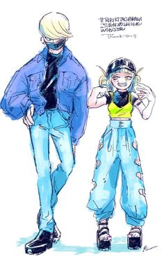 Tsunagu Hakamata, Himiko Toga || can someone give best jeanist actual clothes please and thanks