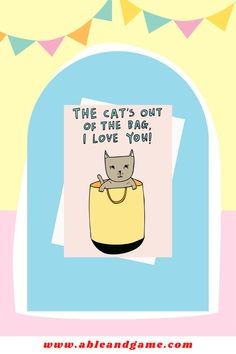 A fun and romantic card for cat lovers. We design and print all our cards in our Melbourne studio and have been making greeting cards since 2009. Cat Diary, Romantic Cards, Secret Crush, I Love You, My Love, Making Greeting Cards, Cat Cards, Feeling Overwhelmed, Humor