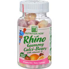 Nutrition Now Rhino Swirlin' Calci-Bears with Vitamin D Sour - 60 Gummy Bears