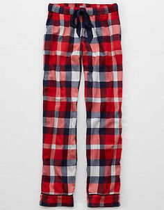 Aerie Real Soft® Flannel Sleep Pant , Blue | Aerie for American Eagle