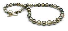 Pearl Paradise - 21-inch Pistachio Tahitian Baroque necklace - PISTACHIO!  love!