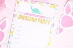 A Girl's Dino Party : Free Party Printables