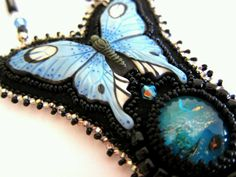 Beaded Butterfly Necklace by jenum24 on Etsy, $130.00