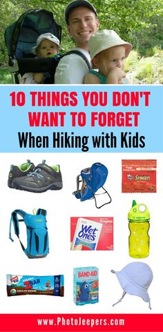 Hiking with kids is totally doable, in fact, we enjoy hiking with our kids. We will tell you the 10 things you don't want to forget and exactly what you need to bring with you on your hike to keep both you and the kids happy. Hiking Gear List, Hiking Tips, Camping Gear, Camping Hacks, Couples Camping, Backpacking Meals, Ultralight Backpacking, Camping Equipment, Family Camping
