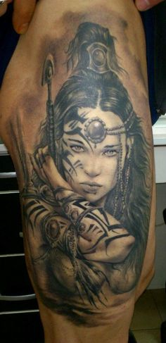 Todor Todorov warrior tattoo