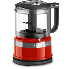 KitchenAid Empire Red Food processor at Lowe's. You will get exceptional performance with this KitchenAid Cup mini food processor. Two speeds and pulse operation give you precise control to produce Mini Chopper, Food Chopper, Tabletop, Prep & Cook, Empire, Small Kitchen Appliances, Kitchen Gadgets, Red Kitchen, Desert Recipes